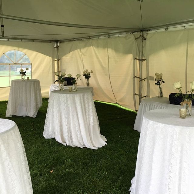 outdoor reception tent